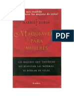 Rubin, Harriet - Maquiavelo Para Mujeres [Doc]