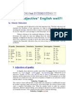 Adjectives of Quality