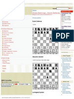 Chess Openings - Dutch Defense