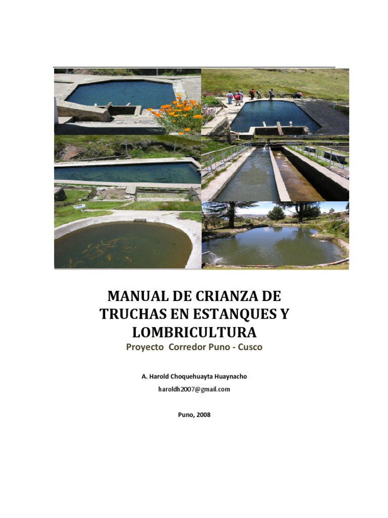 Manual crianza de truchas for Crianza de truchas en estanques