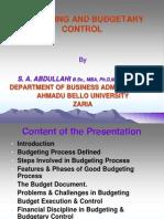 Budgeting and Budgetary Control Anan 2009 II