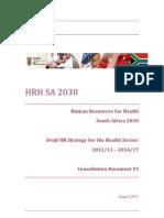 Draft HRH Re-Engineering of PHC