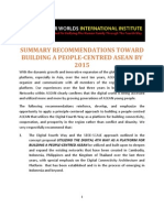 Summary Recommendations Toward Building a People-Centred ASEAN
