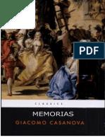 Casanova Giacomo - Memorias -Selecci n