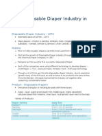 Summary_Disposable Diaper Industry