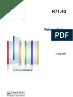 CP R71.40 Releasenotes