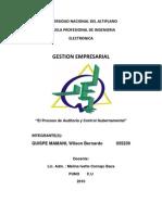 El Proceso de Auditoria y Control Gubernamental