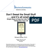 Dont Sweat the Small Stuff BIZ