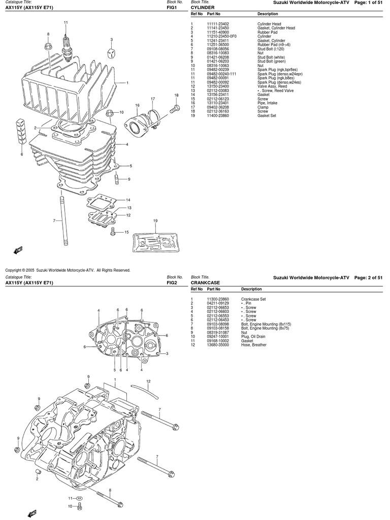 despiece suzuki ax100 115 rh scribd com Nissan Wiring Diagrams Automotive DRZ 400 Wiring Diagram