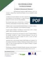 Reflexão de Modelos de Demonstrações Financeiras