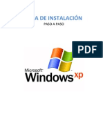 Guia de instalación de Windows XP
