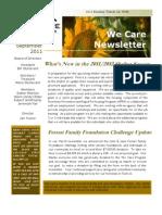 We Care Newsletter - September 2011