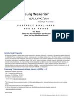 US Cellular i500 Mesmerize English User Manual