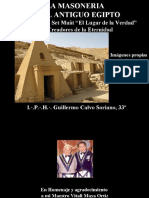 La Masoneria Operativa en el Antiguo Egipto