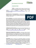 Resumen Semanal de Noticias 29-08 al 2-09