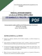 Presentación  Barrios FRACATÁN y LOS GUANDULES, en Conf DR SERGIO BOISIER, CL Jul 7 2011