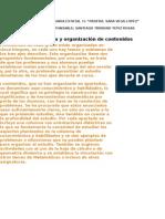 Secuencia y organización de contenidos