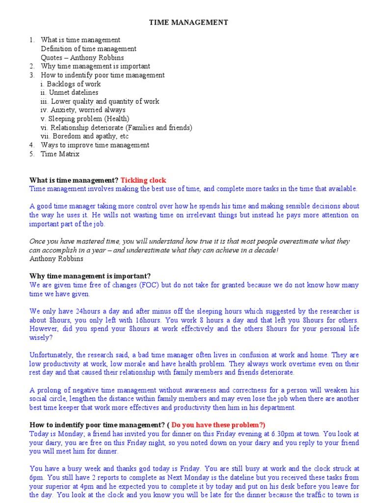 time management | time management | procrastination