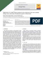Application Ofamulti-criteriaanalysisfortheselectionofthemostsuitable Energy SourceandwaterdesalinationsysteminMauritania