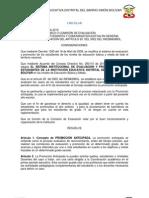 Reglamentación PROMOCIÓN ANTICIPADA