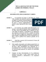 Estatutos de La AsociaciÓn Vecinal de Ferrol Vello