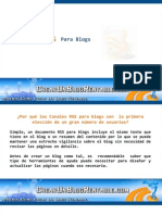 Canales RSS Para Blogs