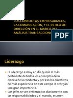 LOS CONFLICTOS EMPRESARIALES, LA COMUNICACIÓN, Y