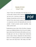 Biography of President