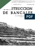 CONSTRUCCIÓN DE BANCALES