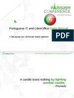 Presentation - Portuguese IT and LibreOffice Open Manual – Because our Schools need options