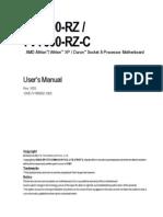 Motherboard Manual 7vt600 Rz(c) e