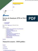 Serviço de Emulação 3270 via Web Browser — HOD