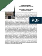 Violencia Institucional en la Universidad Alberto Hurtado