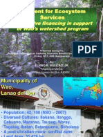 PES for Wao Municipality Watershed Program_Balicao