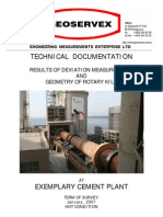 Exemplary Hot Kiln Alignment Report