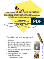 The Role of Writers in Nation Building