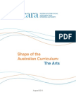 Shape of the Australian Curriculum the Arts - Published
