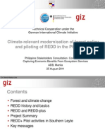 Climate-Relevant Modern is at Ion of Forest Policy and REDD Piloting in the Philippines