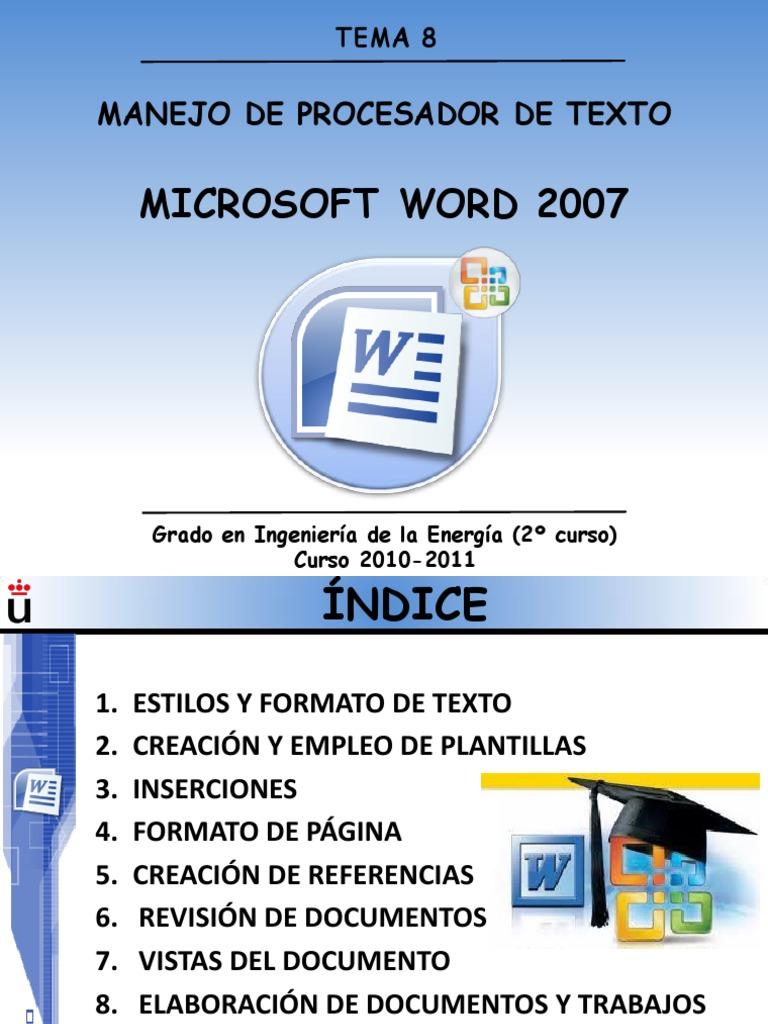 Tema 8. Word