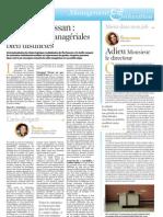 Luc BEAL Article La Tribune Jeudi 12 Mai 2011 Page 29