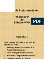 Negotiable Instruments Act of India
