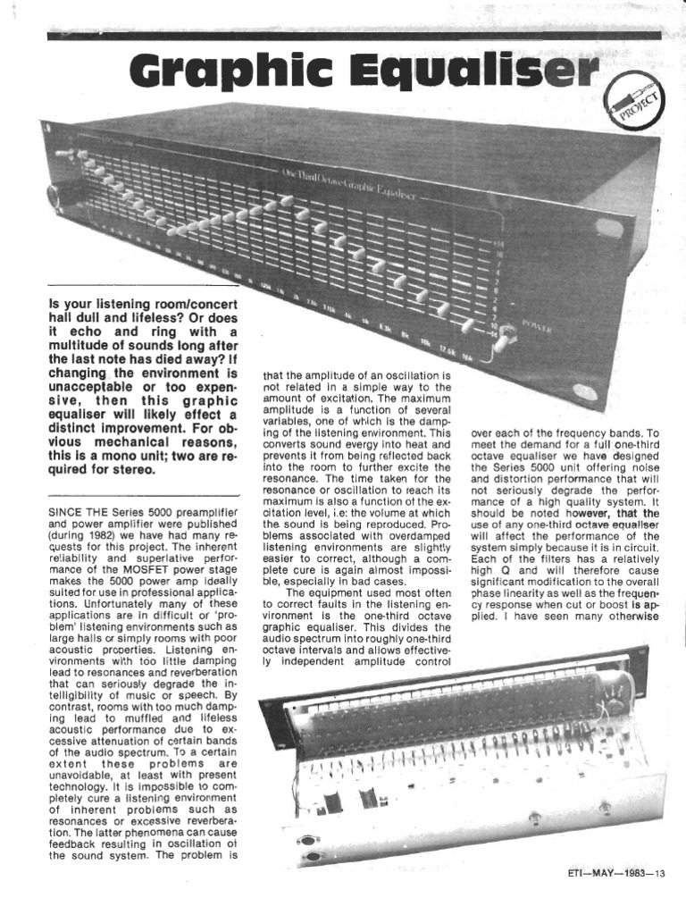 Graphic Equalizer 31 Band