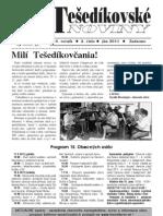 Tešedíkovské noviny - 2011. jún