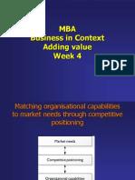 Lecture 4 - Adding Value