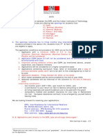 2005 Internship Application Conditions Iit Students