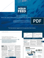 Energy efficiency improving and pellet uniformity control in the extrusion of aquafeed