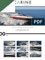 Carine Yachts - International Yacht Brokerage - September 2011 issue