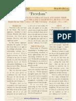 """Psalm 129 v3-4, """"Freedom"""""""