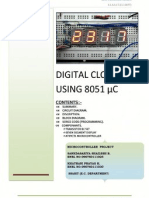 8051 Based Simple Digital Clock