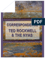 Correspondence by Ted Rockwell re NYAS and Chernobyl Book